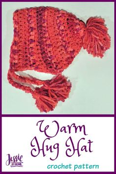 Warm Hug Hat | I love hats that keep my whole head warm, even my ears, and don't leave a space between the hat and the scarf. This hat uses Red Heart's {mix·ol·o·gy} yarn to do just that!!! This pattern will leave you warm and fashionable! || JessieAtHome