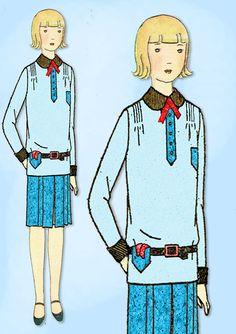 1920s VTG Butterick Sewing Pattern 2155 Uncut Little Girls