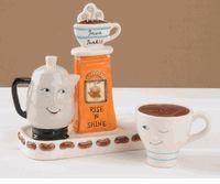 Java Junkie Salt and Pepper Shakers