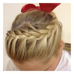 cheer hair Hairstyles and Beauty Tips ❤ liked on Polyvore