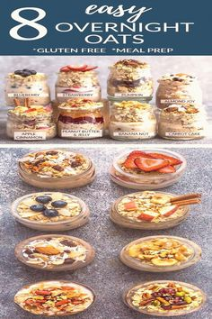 #Easy #meals #to #make #healthy #delicious 8 Healthy and delicious OVERNIGHT OATS  simple nocook makeahead oatmeal perfect for busy mornings Best of all gluten free and so easy to customize with your favorite flavors Super simple to make ahead the night before for meal prep Sunday with less than 5 minutes Almond Joy Apple Cinnamon Banana Nut Blueberry Carrot Cake Peanut Butter  Jelly Pumpkin Cranberry and Strawberrybrp classfirstletterwelcome to our websiteScroll down for also overnightoats… Make Ahead Oatmeal, Easy Overnight Oats, Dumplings, Apple Recipes Easy Quick, Low Carb Meal, Apple And Peanut Butter, Quick Healthy Breakfast, Healthy Snacks, Easy Meal Prep