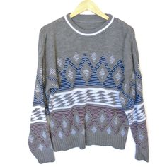 8a9dc2f36000cf Diamonds are Forever Vintage 80s Ugly Huxtable / Cosby Sweater Sweater Shop,  Ugly Sweater,