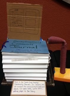 Meeting 2: SHARING STORIES. This is the Santa Cruz County Community Journal. In January 2016, we invited the community to contribute stories. 50 years later, we're still adding pages to our story.