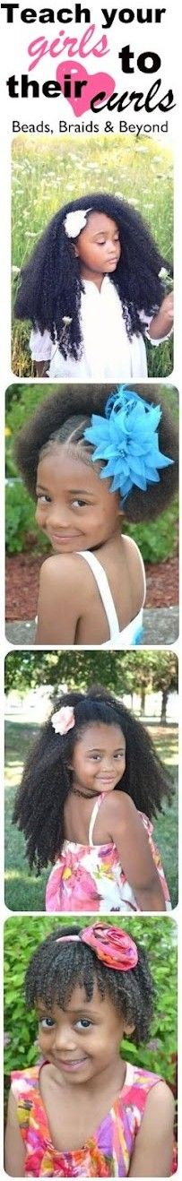 Beautiful! Teach your girls to <3 their curls! To learn how to grow your hair longer click here - http://blackhair.cc/1jSY2ux