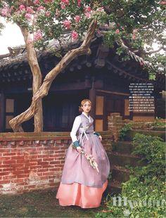 "koreanmodel: ""Kim Ro Sa by Kim Hyuk for My Wedding Korea Oct 2017 "" Korean Traditional Dress, Traditional Fashion, Traditional Dresses, Traditional Chinese, Korea Fashion, Asian Fashion, Women's Fashion, Korea Dress, Korean Hanbok"