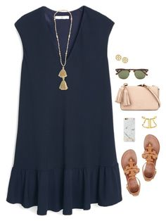 """""""~Since You Been Gone~"""" by thepinkandgreenprep1 ❤ liked on Polyvore featuring MANGO, Isabel Marant, Tory Burch, Ray-Ban and BaubleBar"""