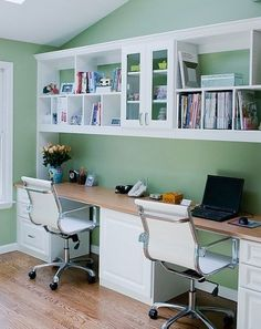 Idea About Home Office Shared Work Area 2 Computers Desks File Storage Areas Great For Doing Homework In A Family Setting Or Small On