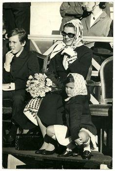książę Albert, księżna Monako Grace i księżniczka Stephanie