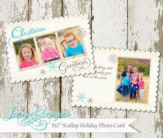 Winter Snowflake Holiday Card by Jeneze on Etsy, #holidaycard , #christmascard