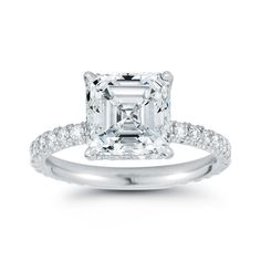 Asscher Engagement Ring - The Douglas Elliott Diamond Solitaire at Marisa Perry