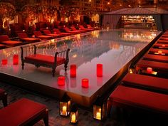 The Pool Bar at Hotel Faena. Chicest spot for drinks in Puerto Madero.