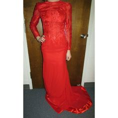 Red Evening Gown/Prom Dress $$OBO$$ Never worn still has tags, couldn't take a picture of the back because it no longer zips :(  CLOSET CLEAR OUT! Taking all offers as long as they are made using the button! (Note i do not accept offers $5 or lower.) Also bundling for a bargain with 20% off 2 or more! Dresses Maxi