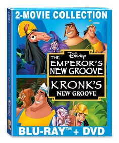 Look at this #zulilyfind! The Emperor's New Groove & Kronk's New Groove Blu-Ray & DVD #zulilyfinds