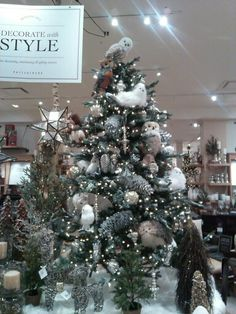Christmas  Owl Animal Tree Hanging Brush Pendant Ornaments Tree Decor VQ