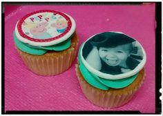 Cupcakes con impresión comestible.