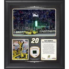 Matt Kenseth Fanatics Authentic 2015 Food City 500 at Bristol Motor Speedway Race Winner Framed 15'' x 17'' Collage With Piece of Race-Used Tire - Limited Edition of 500 - $79.99