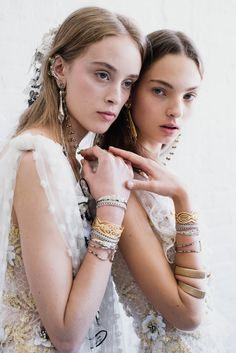 Olivia Jones & Zhenya Migovych backstage for Rodarte SS17 NYFW.