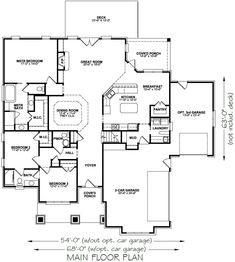 Ashley – Stephen Davis Home Designs Bungalow House Plans, Craftsman House Plans, Dream House Plans, House Floor Plans, Home Design, Modern Ranch, Building A Shed, Building Ideas, Sims House