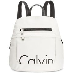 Calvin Klein Small Backpack (1.460 ARS) ❤ liked on Polyvore featuring bags, backpacks, tablet backpack, pocket backpack, white bag, backpack bags and knapsack bag