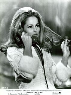 Ursula Andress on the phone