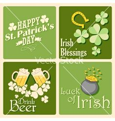 Saint patricks day background vector - by vectomart on VectorStock®