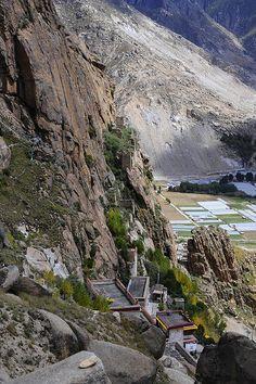 Ruins of K'eu tshang East Hermitage Tibet