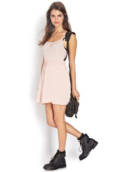 Forever 21 is the authority on fashion & the go-to retailer for the latest trends, must-have styles & the hottest deals. Shop dresses, tops, tees, leggings & more. Babydoll Dress, Rock Style, Baby Dolls, Spring Fashion, Latest Trends, Forever 21, Cold Shoulder Dress, Feminine, Dresses For Work