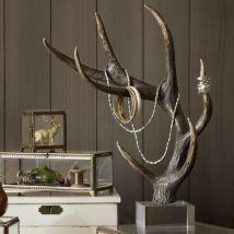 Shop faux antler jewelry tree from Pottery Barn. Our furniture, home decor and accessories collections feature faux antler jewelry tree in quality materials and classic styles. Antler Jewelry Holder, Jewelry Hanger, Jewelry Tree, Jewelry Stand, Diy Jewelry, Jewellery Storage, Jewellery Display, Jewelry Organization, Gold Jewellery