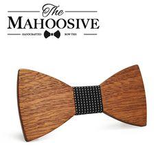 Mahoosive Fashion Men Wooden Bow Tie Set Accessories Handmade Good Wood Bow Ties For Men Wedding Party Neck Tie Gravata. Fashion Brand, Mens Fashion, Wooden Bow Tie, Tie Set, Wedding Men, Bow Ties, Brand Names, Handkerchiefs, Bows