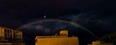Arcoiris nocturno en la isla de La Palma