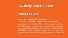 Flush Novel Study Student Guide by Read it Write it Learn it | Teachers Pay Teachers