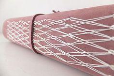 Handmade Suede Leather Journal   por peonyandthistle