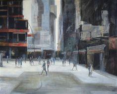 "Nora Maceratesi, ""Huellas en el Aire""   Mixed Media on Canvas   $1,700   Source: www.art-mine.com/...   Agora Gallery   Contemporary Fine Art   NYC, NY"
