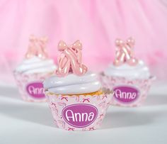 Personalized #Ballerina Cupcake Wrappers from Shindigz!
