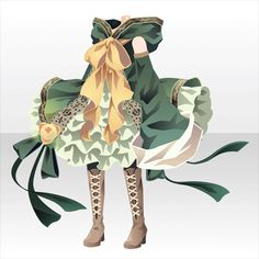 Rose Witch One-Piece vr. A Green