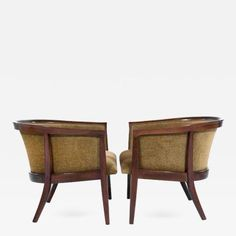 Milo Baughman - Walnut Frame Lounge Chairs by Milo Baughman for Thayer Coggin offered by Stamford Modern on InCollect Lounge Chair Design, Lounge Chairs, Milo Baughman, Restoration, Cabinet, Storage, Frame, Modern, Table