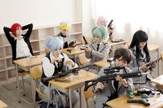 Class shot - Assassination Classroom- See this link becuase honestly they are absolute cosplay goals