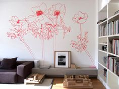 Floral Wallpaper Design by Penelope Rolland  TrafficNYC