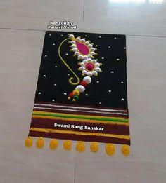 Rangoli Designs Latest, Rangoli Designs Diwali, Rangoli Designs Images, Simple Rangoli, Free Hand Rangoli Design, Small Rangoli Design, Colorful Rangoli Designs, Peacock Rangoli, Flower Rangoli