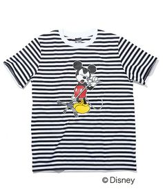 NUMBER (N)INE(ナンバーナイン)の「BORDER T-SHIRTS_NUMBER (N)INE MICKEY MOUSE_MICROPHONE STAND(