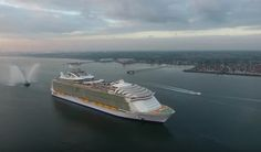 Some amateur drone video captures the new Harmony of the Seas, now the world's largest cruise ship, as it arrives in Southampton. http://gcaptain.com/drone-view-of-worlds-largest-cruise-ship-harmony-of-the-seas/