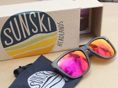 Clear Vintage and Matte Black Sunglasses by Sunskis