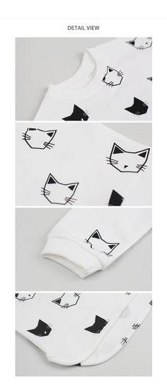 HAPPY PRINCE - BRAND - Korean Children Fashion - #Kfashion4kids - Toto Cat Sibori Tee4