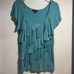 Top Aqua blue summer tee Tops Tees - Short Sleeve