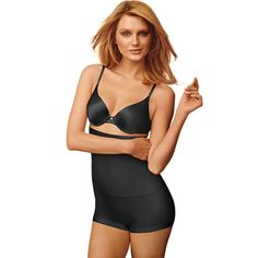 cb65c0a420 Maidenform Shapewear Slim-Waisters High-Waist Boyshorts 12555 - Women s