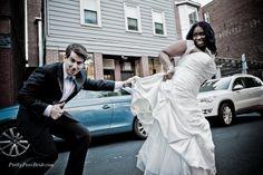 Interracial Wedding with plus size bride