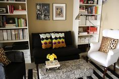 Billy bookcases in Vanessa Stern's office...