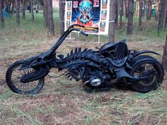 Gothic Skull Chopper, custom built from a BMW Check us out on Fb- Unique Intuitions #uniqueintuitions #chopper #gothic