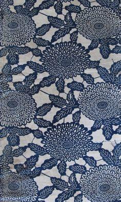 "Ben Banayan Japanese indigo resist-dyed long cotton textile strip (almost 12 feet long by 13"" wide)"