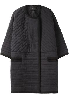 coby collarless coat x isabel marant Looks Style, Style Me, Mode Mantel, Diy Vetement, Inspiration Mode, Jackett, Quilted Jacket, Quilted Coats, Yohji Yamamoto